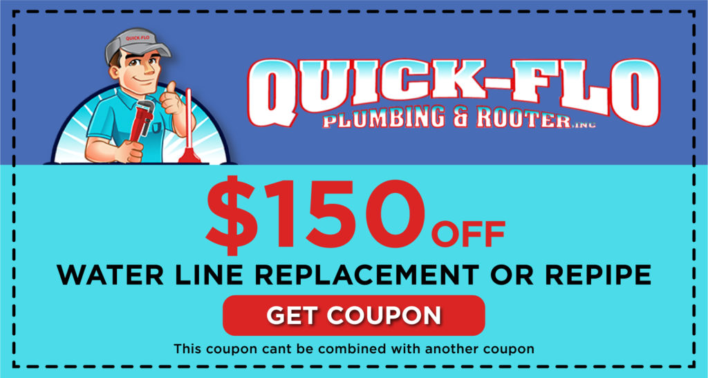 Quick-Flo Water Line Replacement Coupon